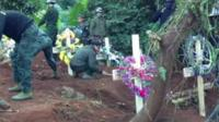 Rebels bury their dead