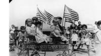 Young migrants on Ellis Island
