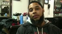 Barber in Ferguson, Missouri