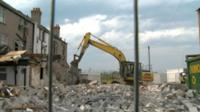 Demolition work in Rhyl