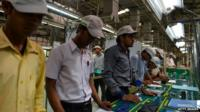 workers in Indian factory