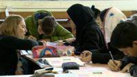 Kainat Riaz and Shazia Ramzan studying