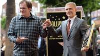 Quentin Tarantino and Christoph Waltz