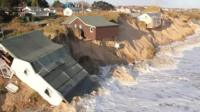 Houses destroyed by floods