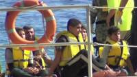 Migrants on boat - file image