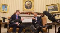 Prince William and Barack Obama