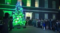 The Christmas tree on Downing Street