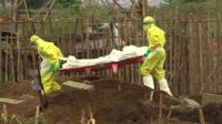 Victims of Ebola are buried