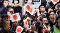 Supporters of ruling Liberal Democratic Party (LDP)