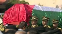 Zaid Abu Ein's coffin being carried