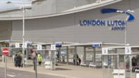 Main terminal building for London Luton Airport in Bedfordshire