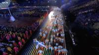 Team Scotland at Glasgow 2014 opening ceremony