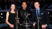 Lewis Hamilton, Rory McIlroy and Jo Pavey