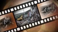 Strip of celluloid film
