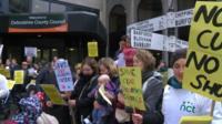 Children's centre protest