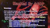 Hackers' threats