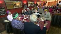 Christmas lunch in the pub