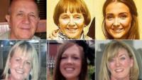 (Clockwise from top left) Jack Sweeney, Lorraine Sweeney, Erin McQuade,, Jacqueline Morton, Stephenie Tait and Gillian Ewing