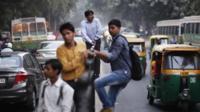 Busy Delhi street