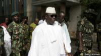 File pictures of The Gambia's president Yahya Jammeh