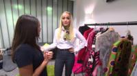 Rita Ora in her dressing room