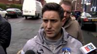 Oldham Athletic manager Lee Johnson