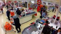 inside Sainsbury's store