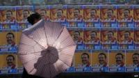 Mahinda Rajapaksa campaign posters