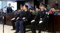 Jaycee Chan attends his trial at a court in Beijing