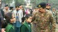 General Raheel Sharif greets students