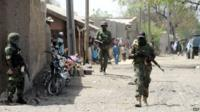Nigerian soldiers patrol the remote northeast town of Baga, Borno State - 30 April 2013