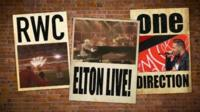 Posters of gigs