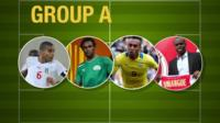 The key players from the teams in Group A