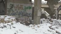Snow in Aleppo