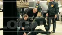 Christopher Cornell being stopped by police
