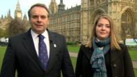 Neil Parish MP and Mimi Bekhechi from Peta