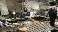 Market in Donetsk struck by a shell