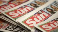 Copies of the Sun newspaper