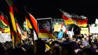 Pegida rally in Dresden