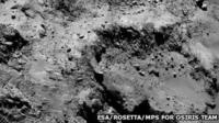 The surface of Comet 67P