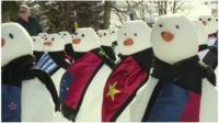 Davos snowmen