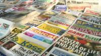 Kenyan newspaper stand