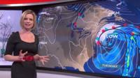 Sarah Keith-Lucas and weather graphic