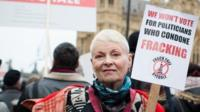 Vivienne Westwood at anti-fracking rally