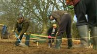 Flintshare community diggers at work