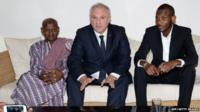 "Lassana Bathily""s father, France""s ambassador to Mali, Gilles Huberson, and Lassana Bathily"
