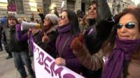Podemos rally in Madrid on 31 January 2015