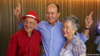 The father, brother (Andrew) and mother of journalist Peter Greste celebrate his release at a news conference in Brisbane