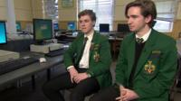Sixth-form students George and Max