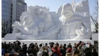 Snow Festival in Sapporo, northern Japan